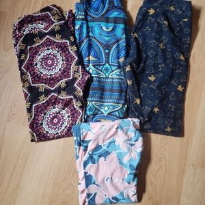 Bundle of 4 pairs Lularoe leggings One size